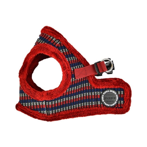 PUPPIA Elliott Vest Dog Harness Wine Side View