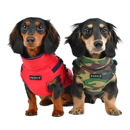 PUPPIA Life Pioneer Winter Active Dog Coat Harness On Dogs
