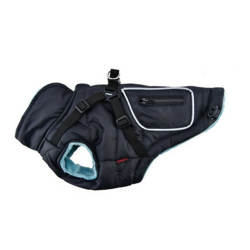 PUPPIA Life Pioneer Winter Active Dog Coat Harness Black Side View