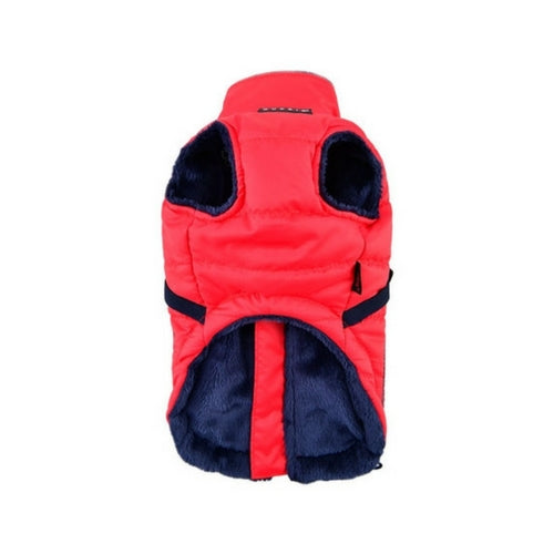 PUPPIA Life Pioneer Winter Active Dog Coat Harness Red Front View