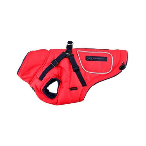 PUPPIA Life Pioneer Winter Active Dog Coat Harness Red Side View