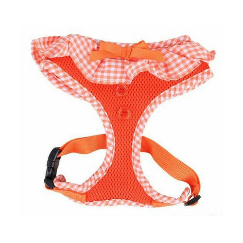 PUPPIA Vivien Soft Collar Adjustable Dog Harness A Orange