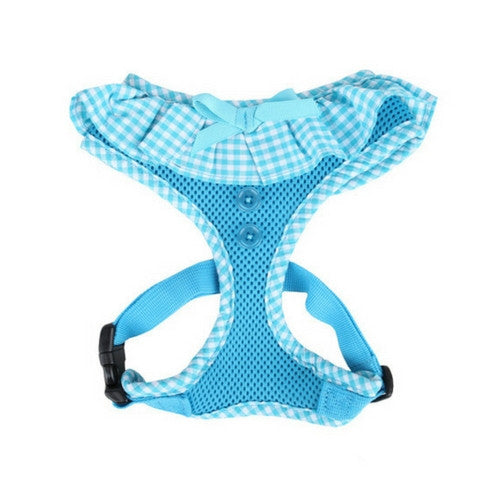 PUPPIA Vivien Soft Collar Adjustable Dog Harness A Sky Blue