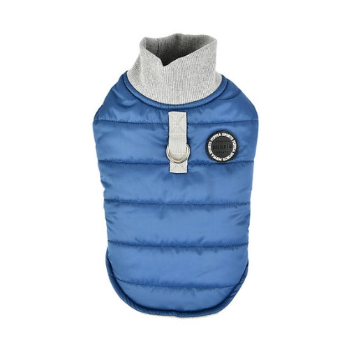 PUPPIA Wagner Winter Active Dog Coat Harness Dark Blue Back View