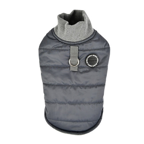 PUPPIA Wagner Winter Active Dog Coat Harness Grey Back View
