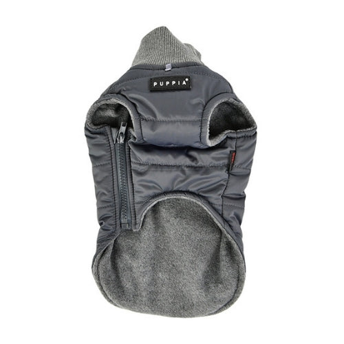 PUPPIA Wagner Winter Active Dog Coat Harness Grey Front View