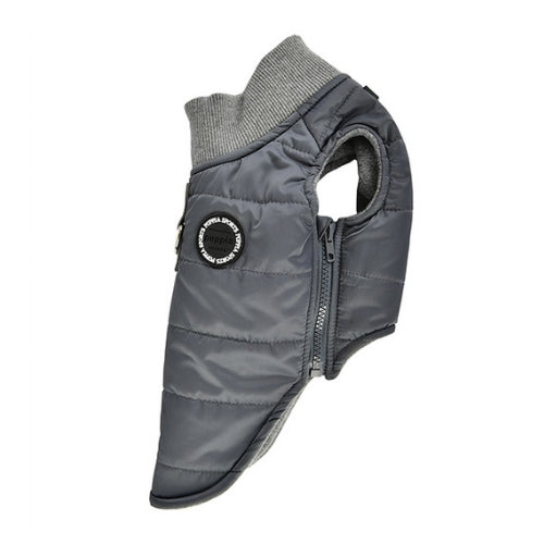 PUPPIA Wagner Winter Active Dog Coat Harness Grey Side View