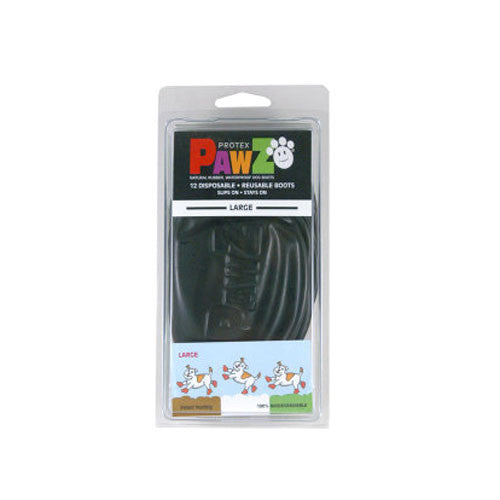 Black PawZ Natural Rubber Protective Paw Wear Dog Boots