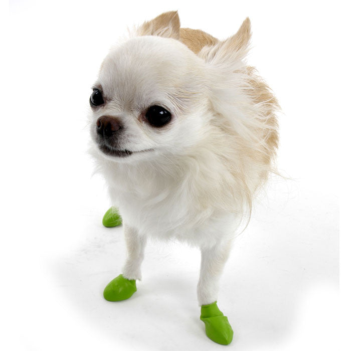 PawZ Natural Rubber Protective Paw Wear Dog Boots Tiny Lime Green