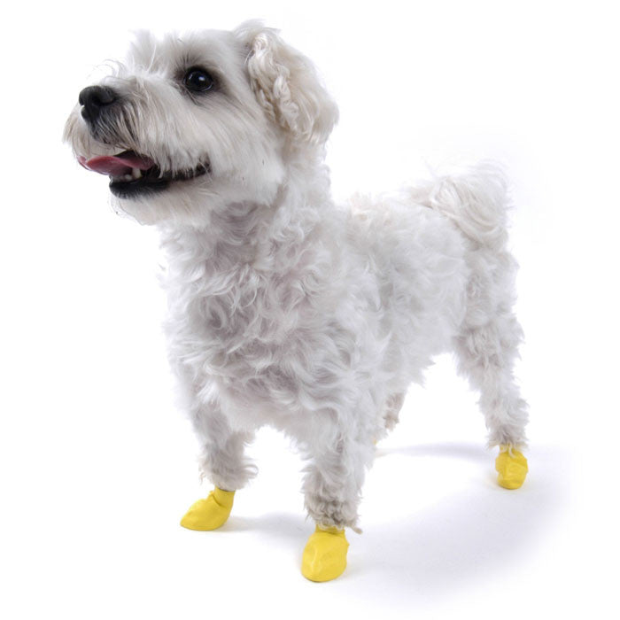PawZ Natural Rubber Protective Paw Wear Dog Boots XXS Yellow