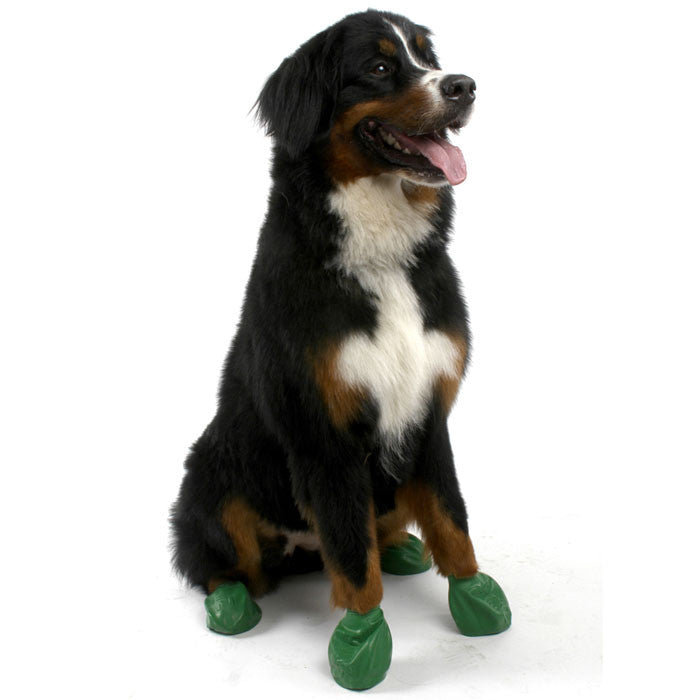 PawZ Natural Rubber Protective Paw Wear Dog Boots XL Dark Green
