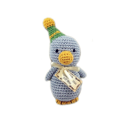 Disco Duck Pet Flys Knit Knacks Organic Cotton Dog Toy