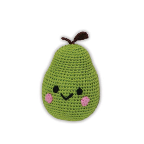 Bartlett Pear Pet Flys Knit Knacks Organic Cotton Dog Toy