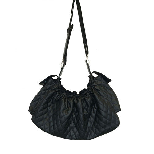 PETOTE Black Quilted Gigi Sling Everyday Carrier Purse