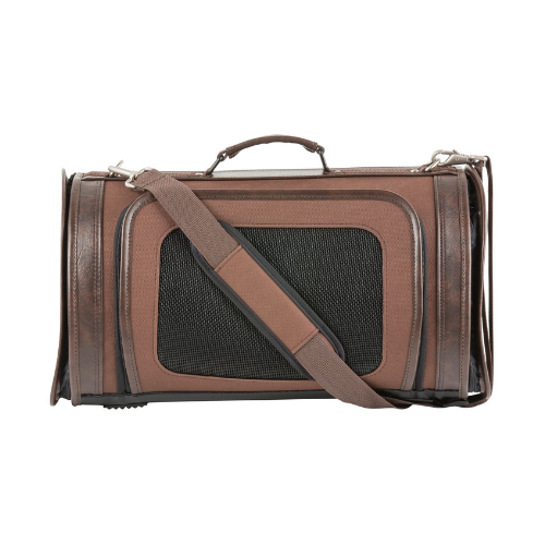 PETOTE Kelle Airline Approved Dog Travel Carrier — Chocolate Brown
