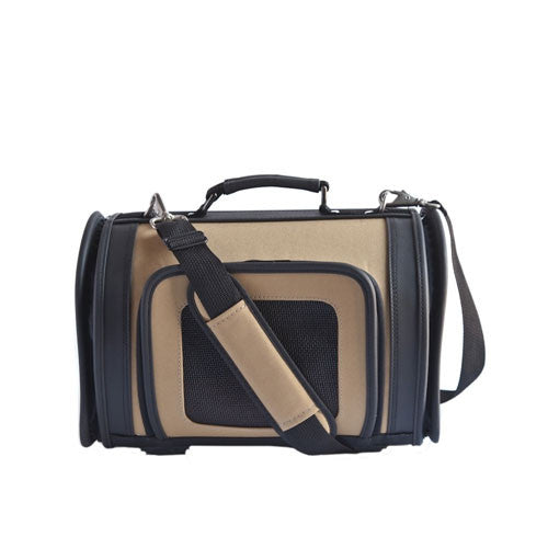 PETOTE Black and Tan Kelle Airline Approved Dog Travel Carrier