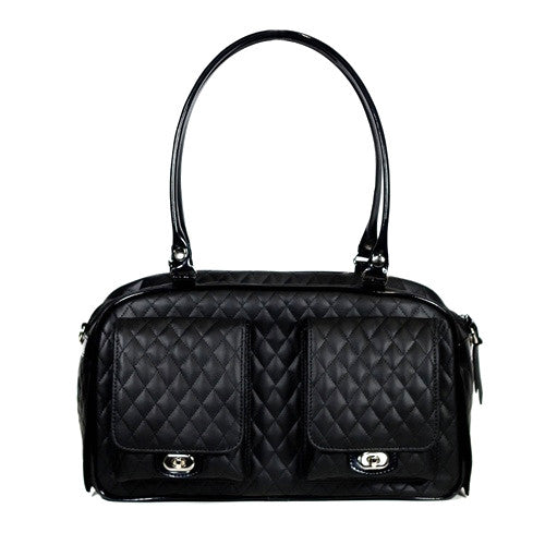 PETOTE Black Quilted Marlee Bag Airline Approved Travel Dog Carrier