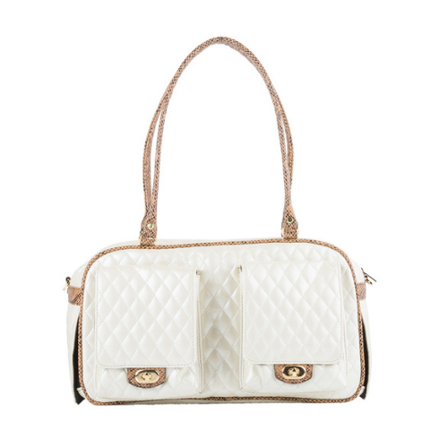 PETOTE Marlee Bag Airline Approved Travel Dog Carrier — Ivory Quilted