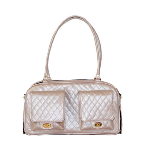 PETOTE Marlee Airline Approved Travel Dog Carrier — Petal Pink Quilted