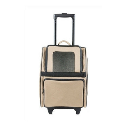PETOTE Rio Roller Bag Dog Travel Carrier — Khaki