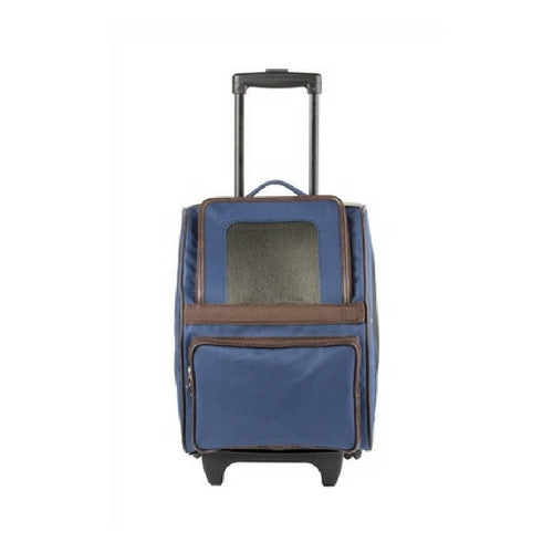 PETOTE Rio Roller Bag Dog Travel Carrier — Navy Blue