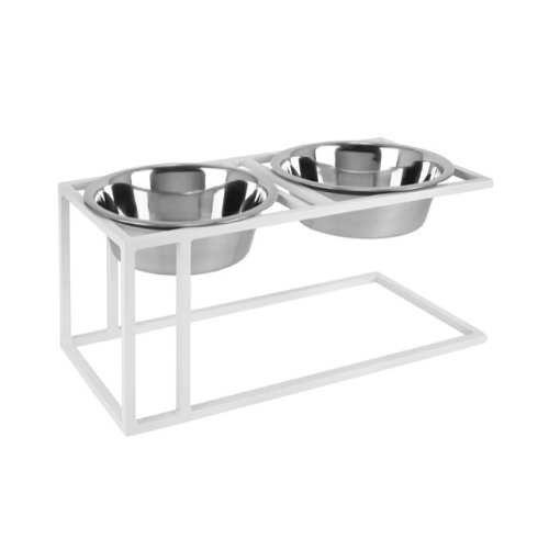 Pets Stop Cityline Double Diner Elevated Dog Feeder Bowl