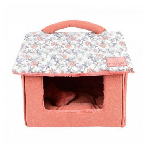 Pinkaholice New York Zinnia House Dog Bed Ivory Front View