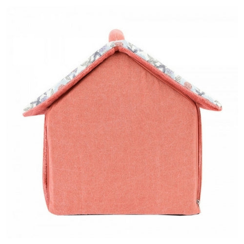 Pinkaholice New York Zinnia House Dog Bed Ivory Back View