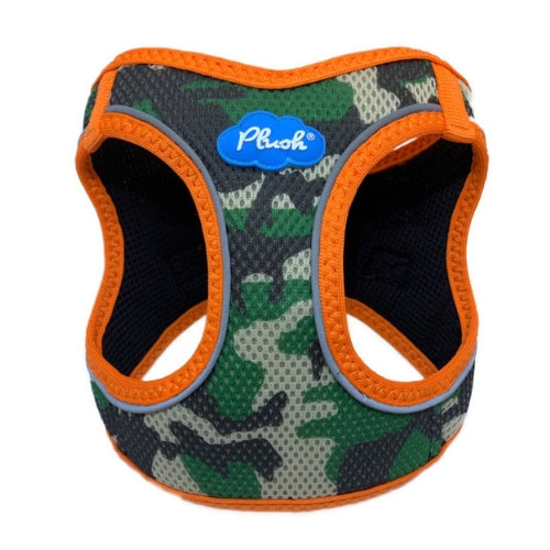 Plush Step In Air Mesh Vest Dog Harness — Camo Orange