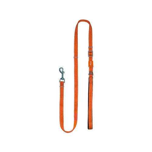 Plush USA Adjustable Reflective Nylon Neoprene Dog  Lead —  Orange