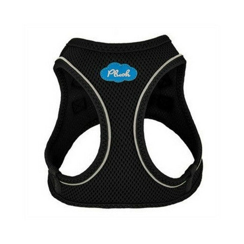 Plush Step In Air Mesh Vest Dog Harness — Black