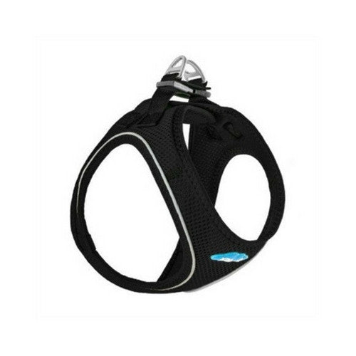Plush Step In Air Mesh Vest Dog Harness — Black Side View