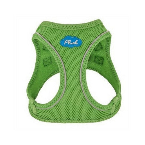 Plush Step In Air Mesh Vest Dog Harness — Grass Green