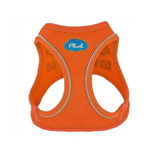 Plush Step In Air Mesh Vest Dog Harness — Orange