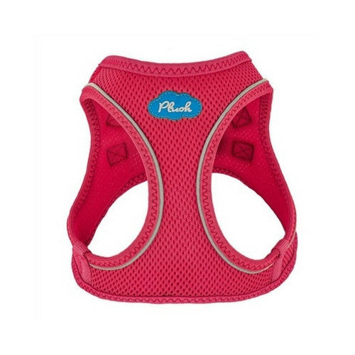 Plush Step In Air Mesh Vest Dog Harness — Peacock Pink