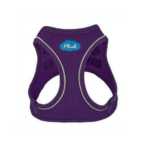 Plush Step In Air Mesh Vest Dog Harness — Purple