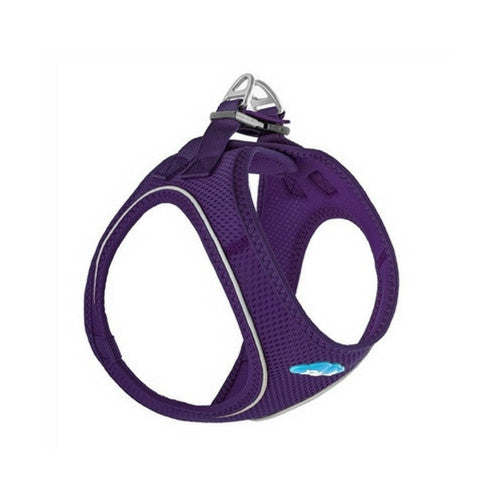 Plush Step In Air Mesh Vest Dog Harness — Purple Side View