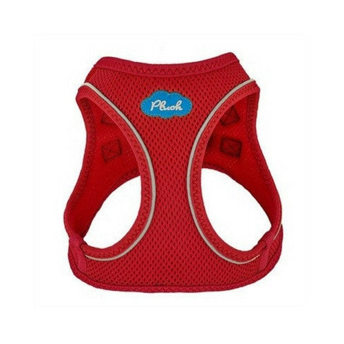 Plush Step In Air Mesh Vest Dog Harness — Red