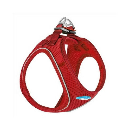 Plush Step In Air Mesh Vest Dog Harness — Red Side View