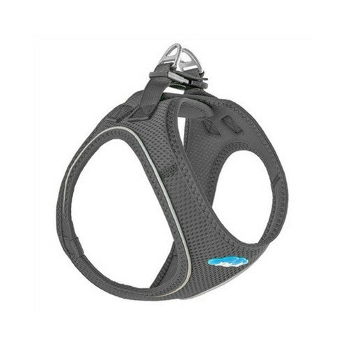 Plush Step In Air Mesh Vest Dog Harness — Shark Grey Side View