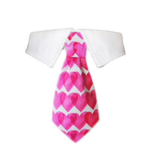 Pooch Outfitters Valentines Heart Dog Tie Shirt Collar