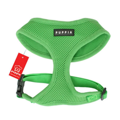 PUPPIA Soft Collar Air Mesh Adjustable Dog Harness — Green