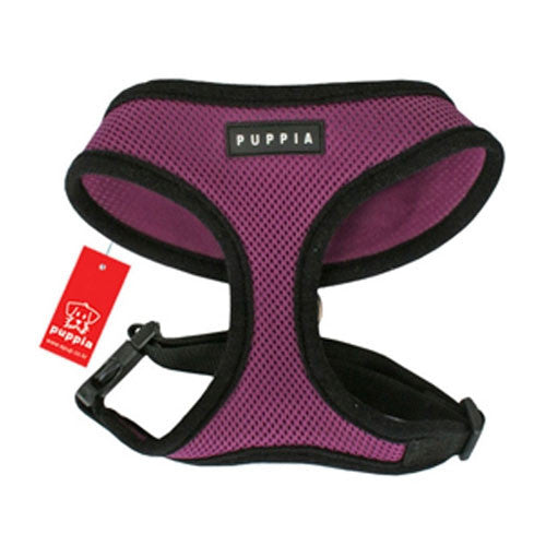PUPPIA Soft Collar Air Mesh Adjustable Dog Harness — Purple