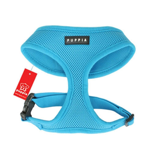 PUPPIA Soft Collar Air Mesh Adjustable Dog Harness — Sky Blue