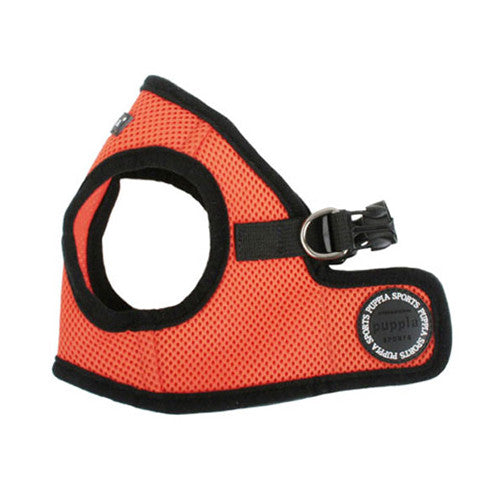 PUPPIA Soft Vest B Air Mesh Adjustable Dog Harness — Orange