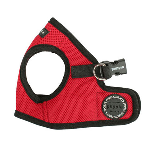 PUPPIA Soft Vest B Air Mesh Adjustable Dog Harness — Red