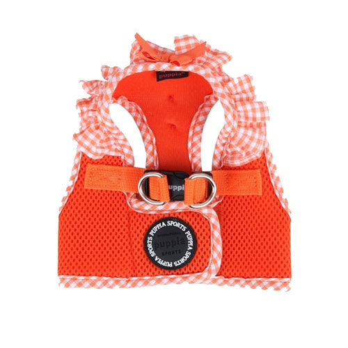 PUPPIA Vivien Step-In Soft Vest Dog Harness B Orange Top View