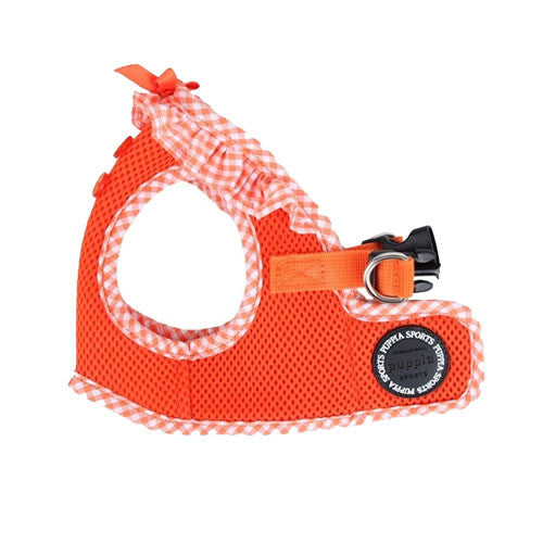 PUPPIA Vivien Step-In Soft Vest Dog Harness B Orange Side View