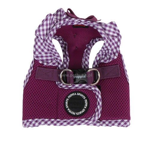 PUPPIA Vivien Step-In Soft Vest Dog Harness B Purple Top View