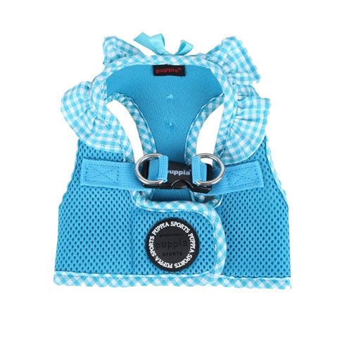 PUPPIA Vivien Step-In Soft Vest Dog Harness B Sky Blue Top View